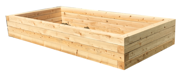 bufco square post raised garden bed